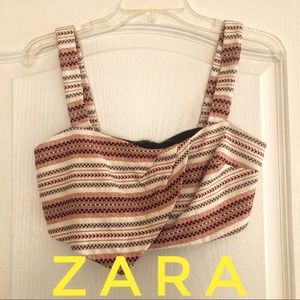 Zara Textured Crop Top S